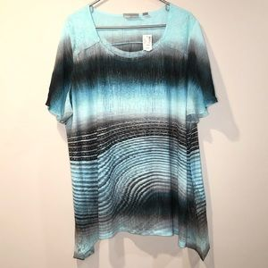 NWT Avenue multicolor abstract blouse size 22/24